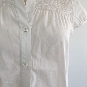 Theory Woman Gathered Linen Shirt White Size S Theory Cheap Sale Discounts Official Cheap Online Free Shipping High Quality Clearance Top Quality OFvmcB